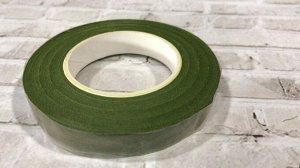 Тейп лента, 1,2 см, болотно-зеленый светлый