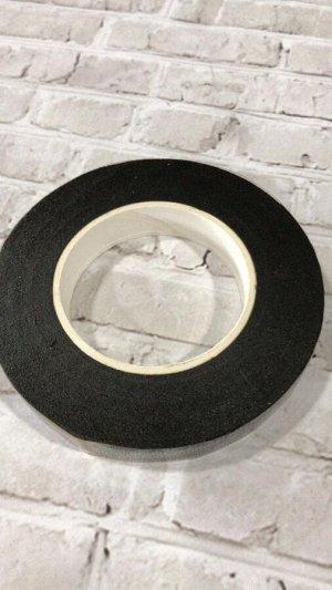 Тейп лента, 1,2 см, цвет черный