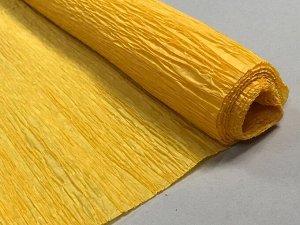 Гофра Китай, 250*50 см № 59 блестящий желтый