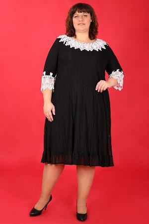 20-26 ДАДАШ W16.С1 Платье-двойкачерно-белый