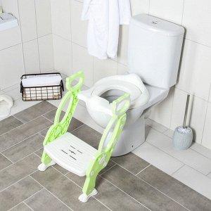Детская накладка - сиденье на унитаз «Кошечка», цвет зеленый