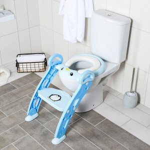 Детская накладка - сиденье на унитаз «Пингвин», цвет голубой