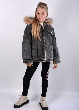 8850 Куртка джинсовая для девочки.