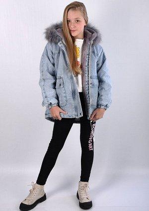 8857 Куртка джинсовая для девочки.