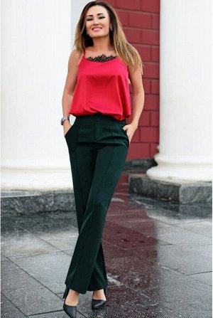 Модные женские брюки Сью темно-зеленые