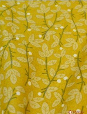 Теплый хлопок Снежник (цв.горчичный) ш.1.48 м, хлопок-100%