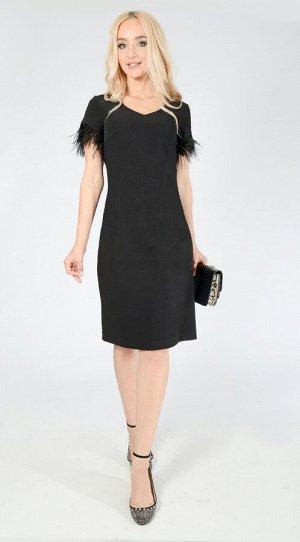 Платье с перьями 1055-1