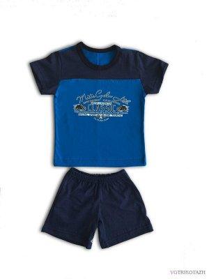 Комплект Кулирка 100% хлопокЛетний комплект из футболки и шорт, 100% хлопок кулирная гладь