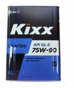 Масло транмиссионное GS Kixx Geartec 75w90 GL-5 4л
