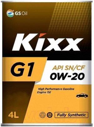 Масло моторное GS Kixx G1/NEO 0w20 SN/CF  4л синтетика