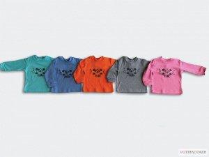 Рубашечка Интерлок 100% хлопокРубашечка из интерлока, 100 % хлопок, с мягким принтом. Расцветки для мальчиков и девочек