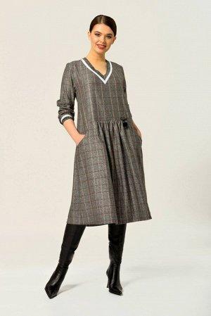 Платье Платье Anna Majewska А283G  Состав ткани: Вискоза-39%; ПЭ-59%; Спандекс-2%;  Рост: 170 см.  Платье свободного покроя с длинным рукавом на трикотажном манжете. V образная горловина заканчиваетс