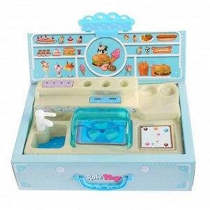 Игровой набор «Буфет», с аксессуарами, в чемодане, 44 предмета