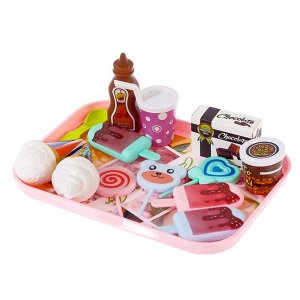 Набор продуктов «Десерт», на подносе