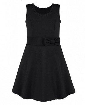 Черный школьный сарафан для девочек Цвет: черный