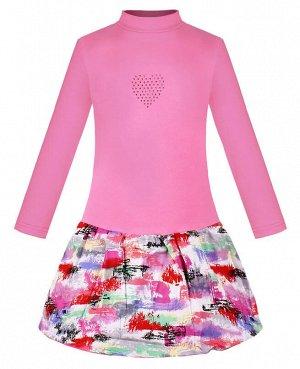 Розовое платье для девочки Цвет: св.фуксия