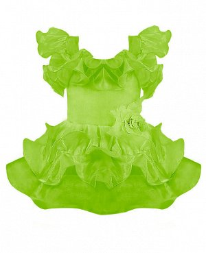 Салатовое нарядное платье для девочки Цвет: салат