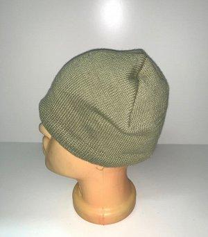 Шапка Крутая шапка цвета олива  №3891
