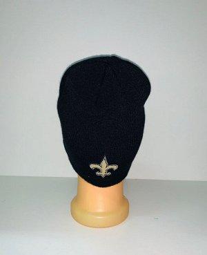 Шапка Черная шапка с крутой нашивкой  №3938
