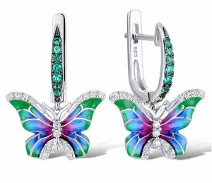 Нежные серьги- бабочки