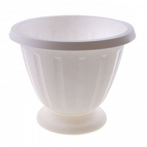 Вазон «Пальмира», 10 л, цвет белый