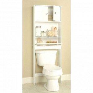 Стеллаж №С01 для ванной комнаты, белый 32 х 48 х 200 см