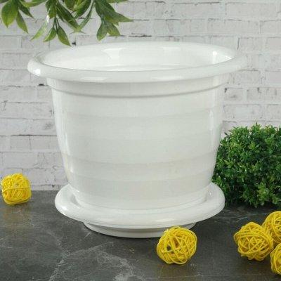 🌷 Кашпо, горшки, грунт - всё для домашних цветов и сада 🌷 — От 1 до 2 л — пластик НОВИНКИ — Кашпо и горшки