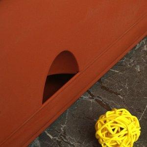 Балконный ящик с поддоном 80 см, цвет терракотовый