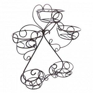 Подставка для цветов «Горшок», d=16 см, цвет черный