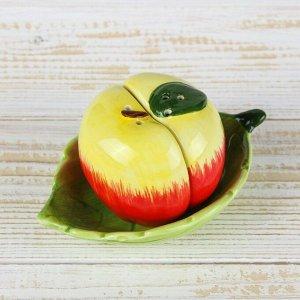 Набор для специй «Наливное яблочко», 2 шт: солонка и перечница, на подставке