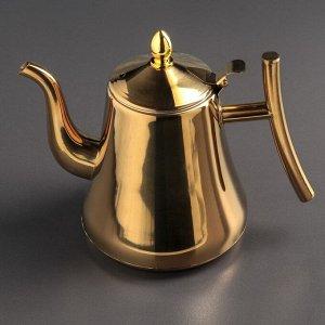 """Чайник с ситом 1,5 л """"Кеннет"""", цвет золотой"""