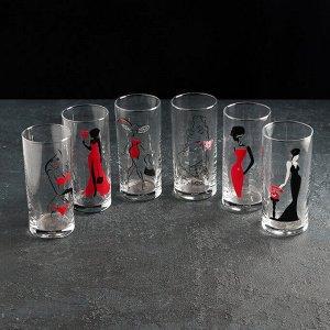 Набор стаканов Декостек Red Line, 280 мл, 6 шт