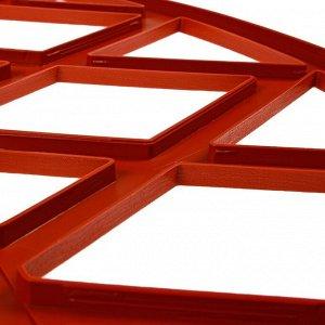 Ограждение декоративное, 35 ? 232 см, 4 секции, пластик, терракотовое, MODERN, Greengo