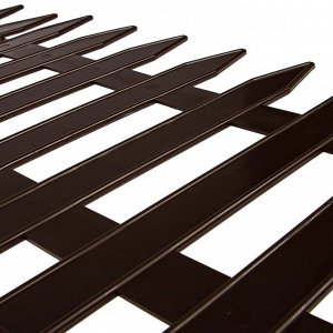Ограждение декоративное, 35 ? 210 см, 5 секций, пластик, коричневое, GOTIKA, Greengo