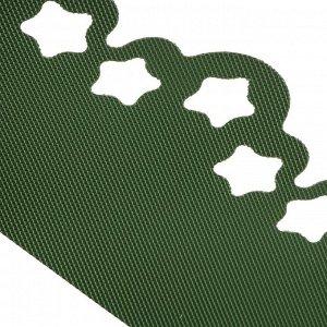 Лента бордюрная, 0.2 ? 9 м, толщина 1.2 мм, пластиковая, фигурная, зелёная