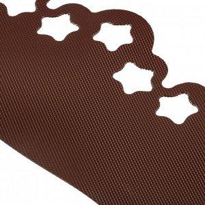 Лента бордюрная, 0.2 ? 9 м, толщина 1.2 мм, пластиковая, фигурная, коричневая