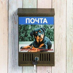 Ящик почтовый с замком, вертикальный, «Фото», МИКС, бронза