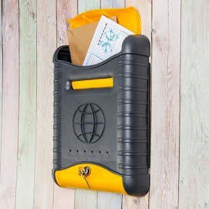 Ящик почтовый, пластиковый, «Стандарт», с замком, серый