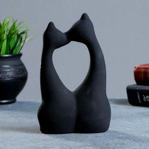 """Фигура """"Коты влюбленные"""" большие черные. 5?10?17см"""