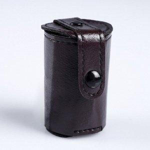Набор рюмок с отделкой из экокожи, 4 шт. ? 30 мл, в коричневом чехле