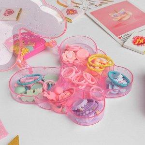 """Комплект детский для создания колец + 2 резинки """"Ассорти"""", форма МИКС, цвет МИКС"""