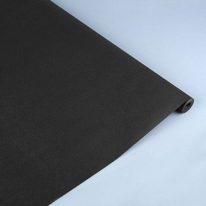 """Бумага упаковочная крафт, двусторонняя,""""Черный"""", 0,7 х 10 м, 70 г/м?"""