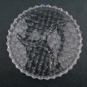 Менажница круглая «Плетение», 3 секции, 22,5?5,4 см