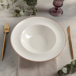 Тарелка для пасты d=25 см, цвет бежевый