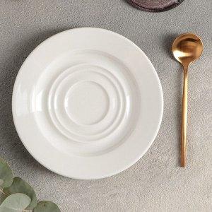Блюдце для чайной чашки «Prime», 15 см, цвет белый