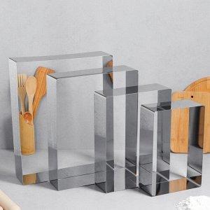 """Набор форм для выпечки и выкладки """"Прямоугольная"""", 32х40х8,5 см, 4 шт."""