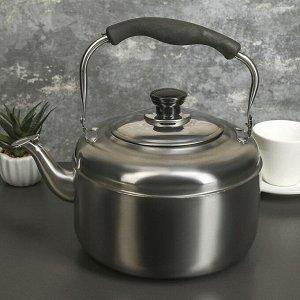 Чайник 4 л Нержавеющая сталь/ пластик Для электрической плиты/ Для галогенной плиты/ Для газовой плиты/ Для стеклокерамической плиты 509 г