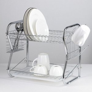 Сушилка для посуды Доляна «Стойка», В-образная, 40?23,5?34 см