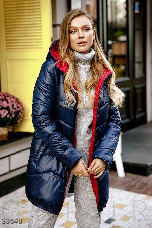 Удлиненная стеганая куртка