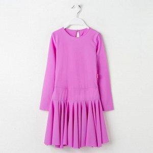 Платье спортивное для девочки, цвет сиреневый